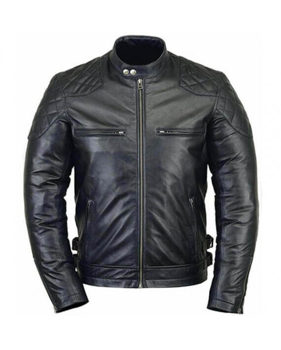 acheter veste motard blouson moto cuir homme vintage pas cher. Black Bedroom Furniture Sets. Home Design Ideas