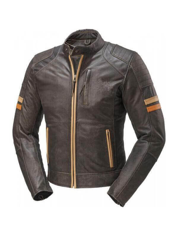 blouson moto veste cuir vintage marron vieilli kustom kulture. Black Bedroom Furniture Sets. Home Design Ideas