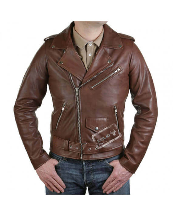 acheter blouson perfecto cuir veste marron style motard. Black Bedroom Furniture Sets. Home Design Ideas