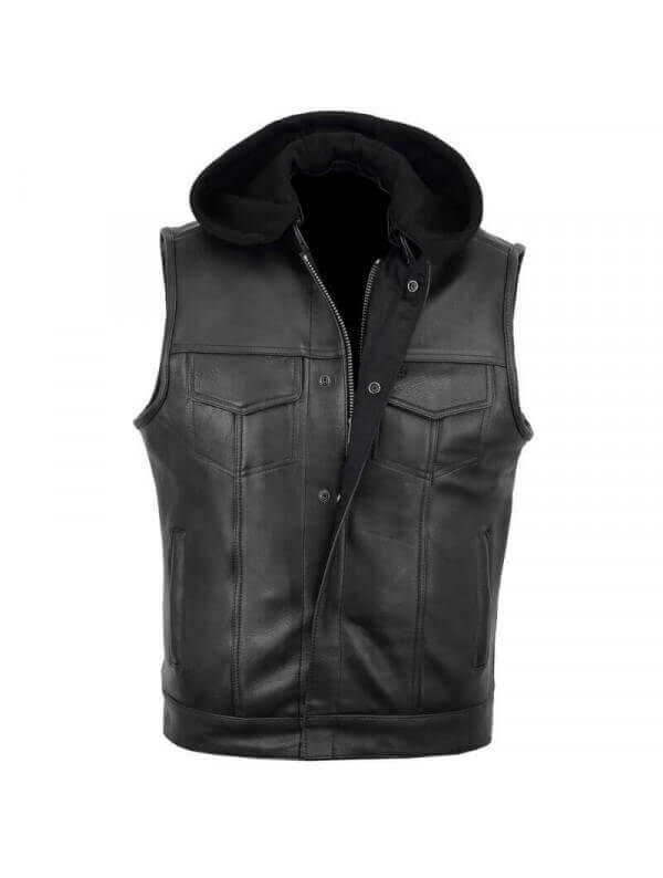 gilet bol ro cuir homme jacket noir style biker angel 39 s banditos. Black Bedroom Furniture Sets. Home Design Ideas