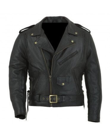 blouson moto cuir vintage biker veste motard vetement scooter. Black Bedroom Furniture Sets. Home Design Ideas