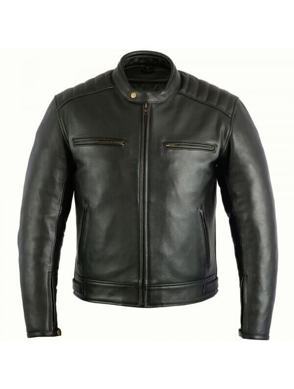 blouson moto cuir homme sobre vestes motard pas cher noir vintage. Black Bedroom Furniture Sets. Home Design Ideas