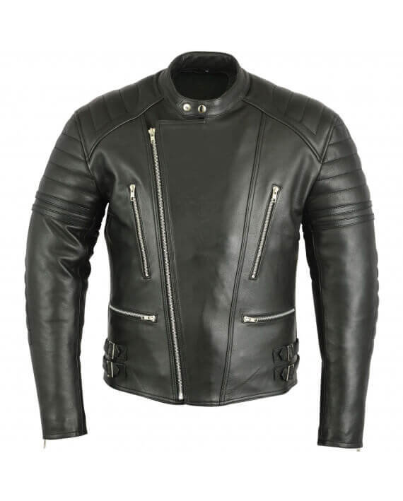 blouson moto cuir homme noir sobre pas cher vintage veste motard. Black Bedroom Furniture Sets. Home Design Ideas